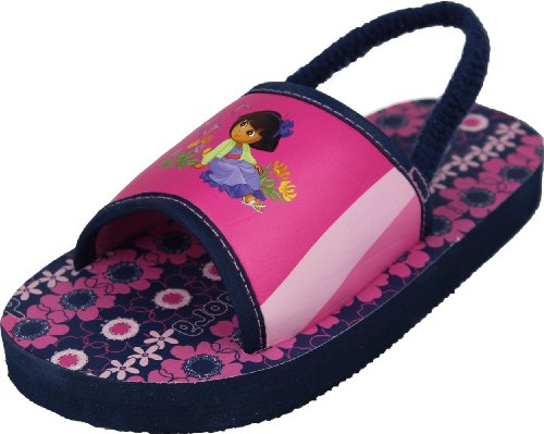 "Dora The Explorer Toddler Girls ""Butterfly Garden"" Sandals Shoes 7/8 front-38748"