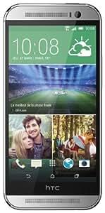 HTC One 2014 (M8) Smartphone débloqué 4G (Ecran: 5 pouces - 16 Go - Android 4.4 KitKat) Argent