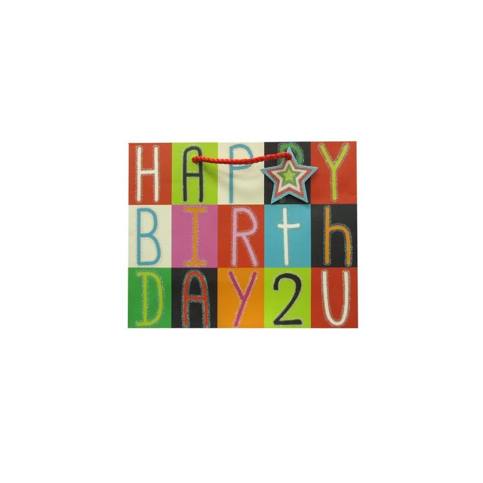 Jillson Roberts Medium Gift Bags, Happy Birthday to You, 6 Count