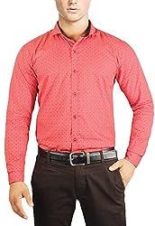 Unkonventional Crimson Printed Shirt