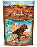 Zuke's Z-Filets Healthy Grain-Free Filets for Dogs, Grilled Venison Recipe, 7.5-Ounce