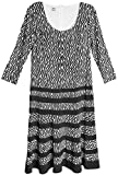 Anne Klein Ivory Abstract Printed Dress Women's Sheath