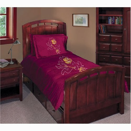 Arizona State Sun Devils Twin/Full Comforter with Two Pillow Shams