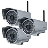 Foscam FI8904W Outdoor Wireless/Wired IP Camera - 3 Pack