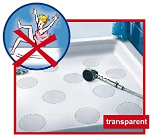 Original Safepore® Anti-slip Stickers (10 pieces of 3.94 inches in diameter) for Your Safety in the Bathroom - No More Sliding in Bathtub or Shower Tray. No Mats Needed