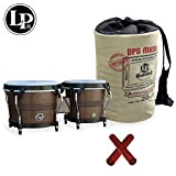 Latin Percussion LP Rumba Bongo (LP608-MOCHA) with Claves & LP Rumba Bongo Bag