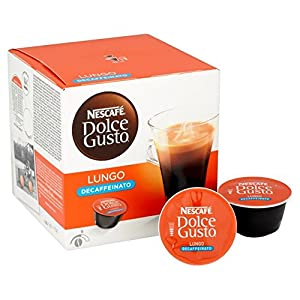 Buy Nescafe Dolce Gusto Lungo Decaf 112g from Nescafe Dolce Gusto