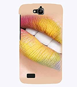 PrintVisa Hot & Sexy Lips 3D Hard Polycarbonate Designer Back Case Cover for Huawei Honor Holly