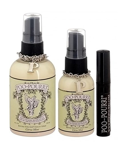 Poo Pourri 3 Piece Bathroom Deodorizer Set Citrus Mint A Sweet Minty Blend Of Vanilla Mint And Cit