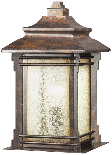 Franklin Iron Works™ Hickory Point Outdoor Pier Mount Light - Outdoor Post Lights - Amazon.com
