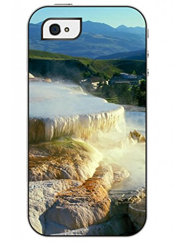 Ouo Fashion Unique Design High Quality Slim Fit Iphone 4 4S Hard Plastic Case For Girls Printed With Spectacular Waterfall