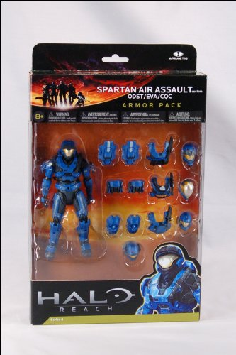 Halo Reach Series 4 Spartan Air Assault Figure & 3 Sets Of Armor - Team Blue Action Figure 2-Pack (Halo Reach Spartan Action Figures compare prices)