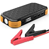 [Ultra Compact] Multi-Function Emergency Car Jump Starter, Power Bank, Moko Portable 12000mAh 500A External Battery...