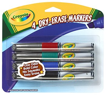 Crayola Dry Erase Markers 4 Color Set