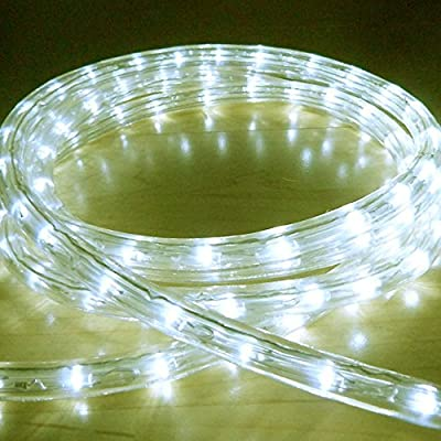 Bright Lightz© LED Rope Lights, Warm White, 2 Metre - 10 Metre Lengths, 6 Controllable Flashing Functions, Fantastic Outdoor Christmas Lights, Decorative Xmas Lights, Gardens Lights, Etc.