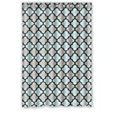 img - for Blue Gray Black Moroccan Trellis, Latticework Shower Curtains Polyester Waterproof 48 book / textbook / text book