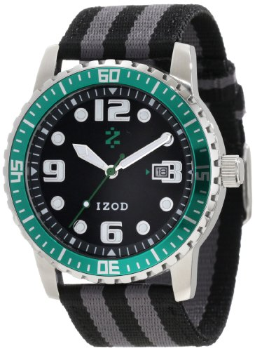 IZOD Men's IZS3/4 GREEN Sport Quartz 3 Hand Watch