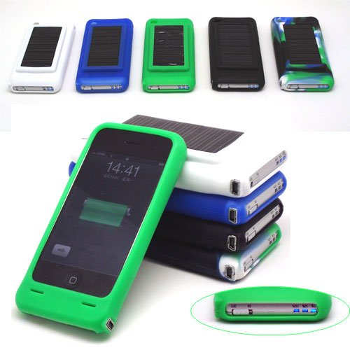 Silicone Solar Charger Battery Case for iPhones at Amazon.com