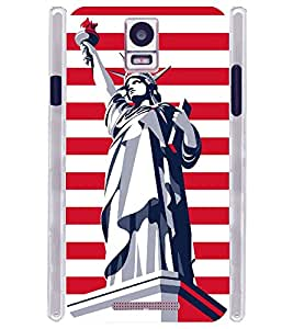 New York NY L Statue Soft Silicon Rubberized Back Case Cover for Xolo Era