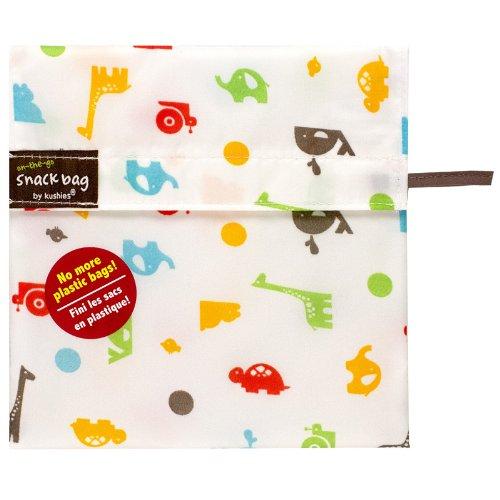 Kushies Baby Kushies On The Go Snack Bag, Animal Print, Medium - 1