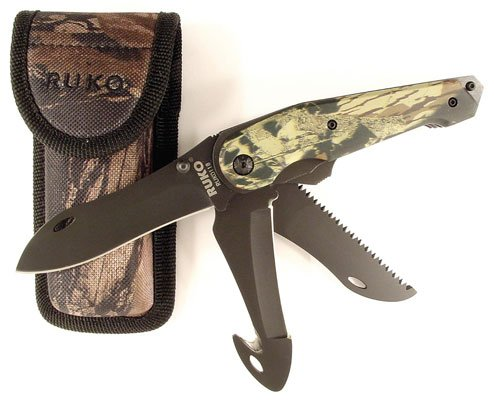 Ruko Knife Camo Multi Blade Folder W/Shea