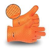 Grillhandschuhe Hitzeresistente Silikon Backhandschuhe Ofenhandschuhe Kühlschrank Handschuhe 2 Stück von InnooTech