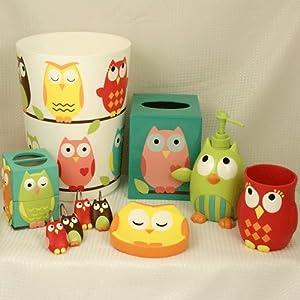 Owl Bath Accessories Home Kitchen