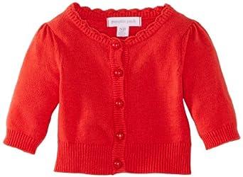 Pumpkin Patch W3BG30003 Baby Girl's Cardigan Tangerine 12-18 Months