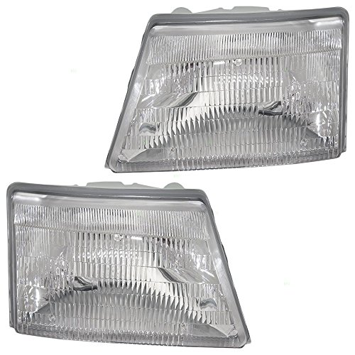 Driver and Passenger Headlights Headlamps Replacement for Ford Pickup Truck F87Z 13008 FB F87Z 13008 EB (Ford Headlight Assembly compare prices)