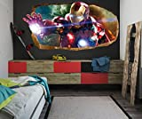 Startonight 3D Mural Wall Art Photo Decor the Power of Light Amazing Dual View Surprise Large 47.24 Inch By 86.61 Inch Wall Mural Wallpaper for Living or Bedroom Movie Collection Wall Art (Red)