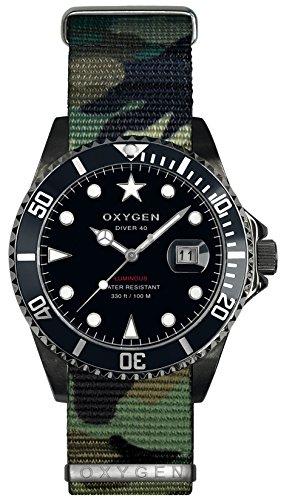 OXYGEN EX-D-MBB-40-NN-AR - Reloj de pulsera unisex, nailon, color multicolor