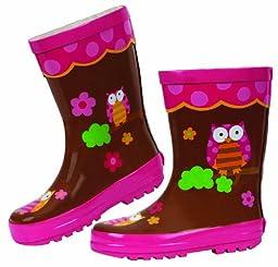 Stephen Joseph Little Girls\'  Little Girls\'  Rain Boot, Owl, 9