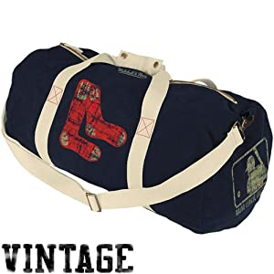 Boston Red Sox Logo Merchandise Mitchell & Ness Vintage Duffle Bag