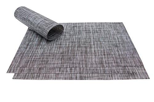 ZOLLNER-4er-Set-hochwertige-Tischsets-Platzset-Tischmatten-Platzmatten-abwaschbar-ca-30x45-cm-graphit-meliert-in-verschiedenen-Farben-erhltlich-vom-Hotelwschespezialist-Serie-Mel