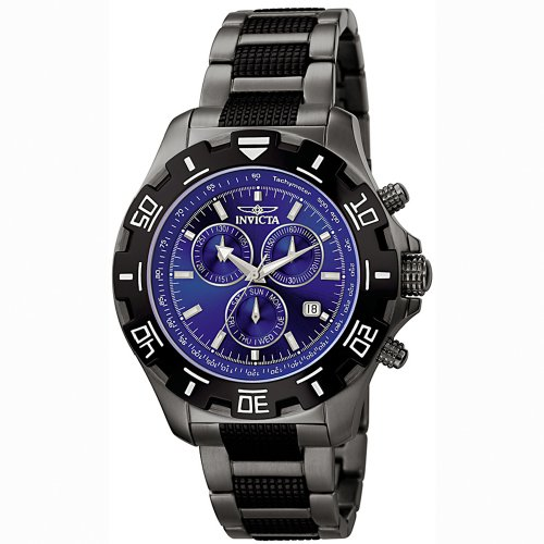 Invicta Men's 6411 Python Collection Chronograph Gun Metal Stainless Steel Watch