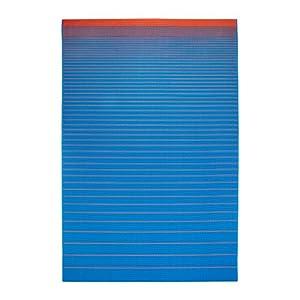 Ikea mejlby rug flatwoven blue orange 200x300 cm for Ikea in orange county