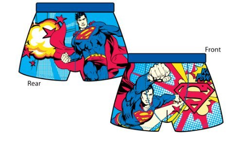 Mens SUPERMAN Fitted Underwear Boxer Trunk