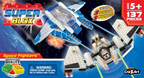 Cra Z Art Superblox Space Fighters Construction Set 137 Pc N