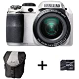Fujifilm FinePix S4200 White + Case and 16GB Memory Card (14MP, 24x Optical Zoom) 3 inch LCD Screen