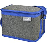 LunchBots Felt Insulated Lunch Bag Blue