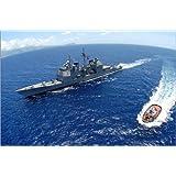 """Leinwandbild 60 x 40 cm - """"geführte Raketenkreuzer USS Vincennes"""" von Stocktrek Images - auch in anderen Größen..."""