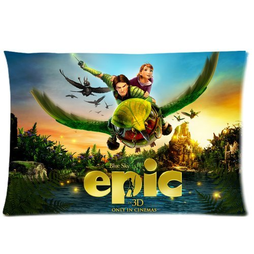 Cartoon Epic Blue Sky Big Bird Flying Custom Standard Pillowcase Diy Pillowslips Roomy In Size 20 X 26 Inch front-4711
