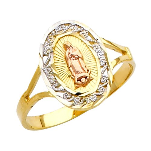 Fine-10k-Tri-Color-Gold-Our-Lady-of-Guadalupe-Ring