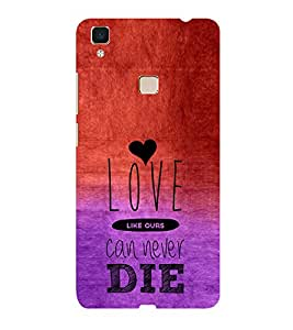 ifasho Love Can Not Die Back Case Cover for Vivo V3
