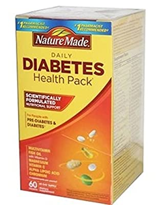 Nature Made Diabetes Health Pack, 60 Packets (Pack of 3)