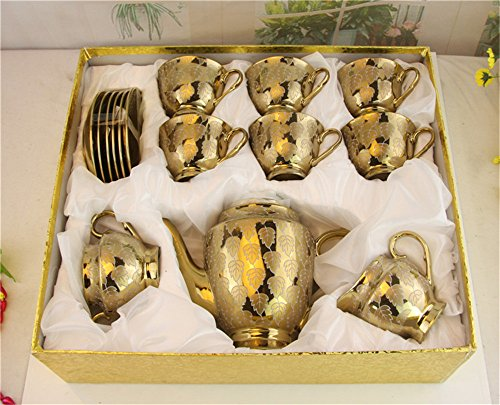 Lowest Price! European Titanium 9 Pieces Ceramic Tea Set