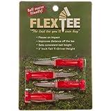 "Flex Tee - 3"" Ti-Driver Golf Tees - 4 Pack (Red)"