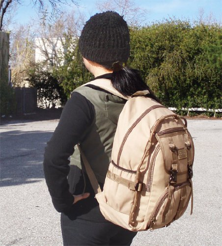Military Inspired Backpack Hiking Camping Large Daypack Canvas