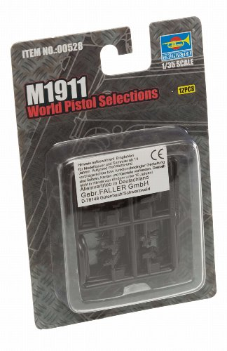 Trumpeter M1911 World Pistols, Scale 1/35, 16-Pack