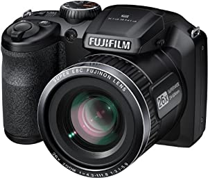 "FinePix S4600 16MP Compact Camera 26X Optical Zoom 3"" LCD (Black)"